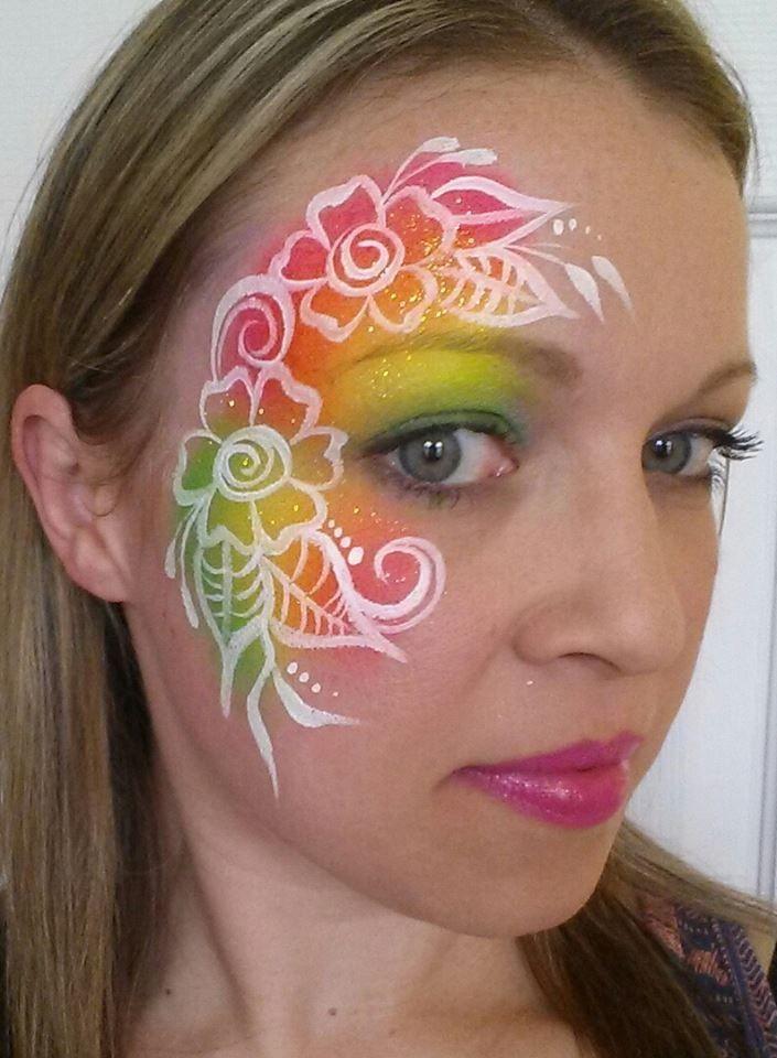 Cameron Garrett rainbow henna inspired design