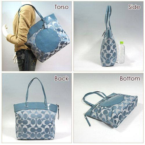 Coach F18335 Laura Tote is going up for auction at  5pm Sat, May 25 with a starting bid of $1.