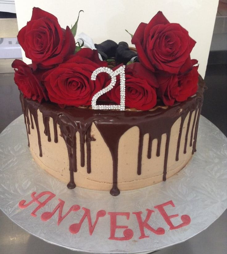 Chocolate Drip Cake with Roses decorated by Coast Cakes Ltd