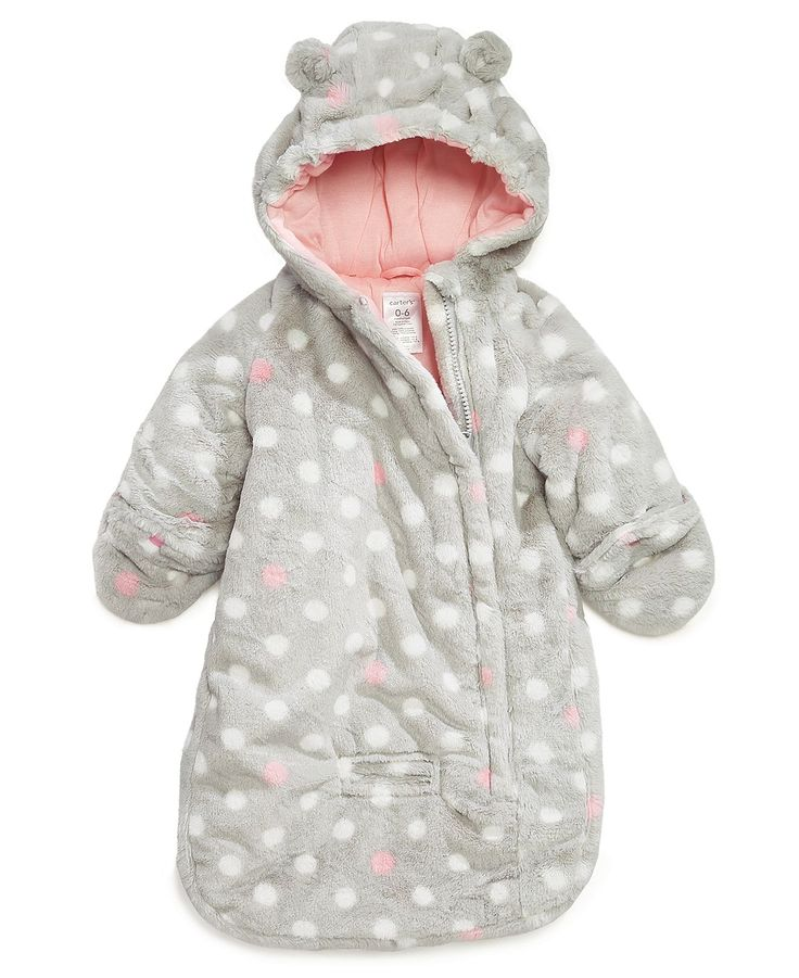 Carter's Baby Outerwear, Baby Girls Dot-Print Pram Bag - Kids Jackets & Coats - Macy's