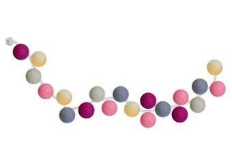 mooie lichtslinger met 20 gekleurde balletjes