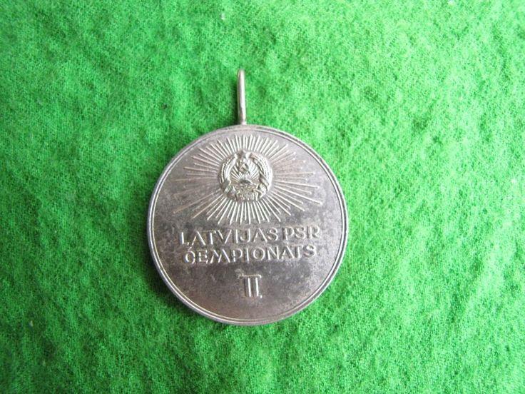 LPSR  USSR Latvia Riga Sport  Badge Medal Championships 2nd place