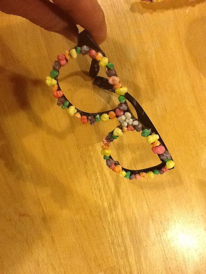 NERDS candy Halloween costume glasses.