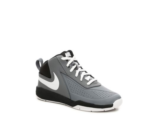Men's Nike Team Hustle D7 Boys Toddler & Youth Basketball Shoe - Grey