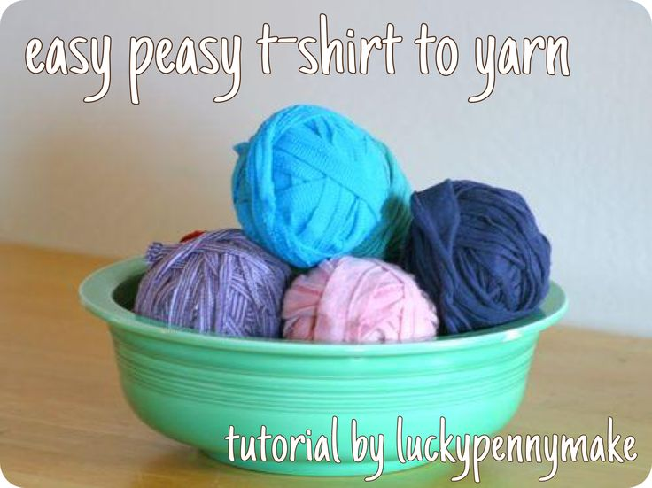 Easy-Peasy T-Shirt To Yarn Tutorial | Tools of the Trade | Pinterest