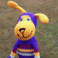 Bertie Amigurumi, crocheted doggie
