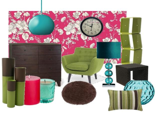 Hot Pink Lime Green Teal And Turquoise Make This Room Vibrant And Fun With  Added Chocolate Part 50