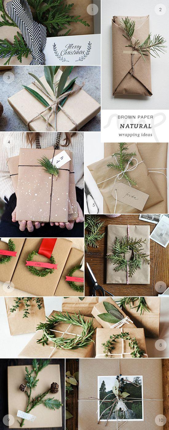 Packpapier Geschenke einpacken Zweig Ast
