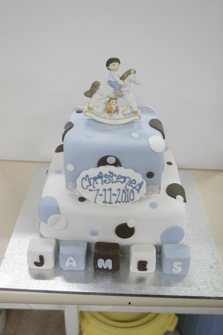 an adorable christening cake - Sweet Designs by Claire #cake #custom #christening #boy