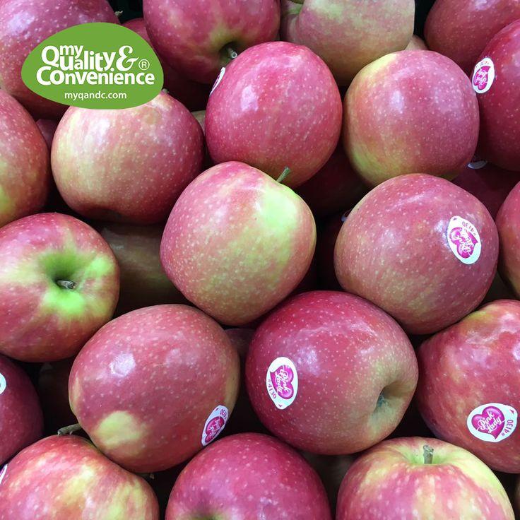 One apple per day. Taste the freshness! #MyQandC #uae #middleEast #Dubai #dxb #apple #fruit #veggie #vegan #veg #veggy
