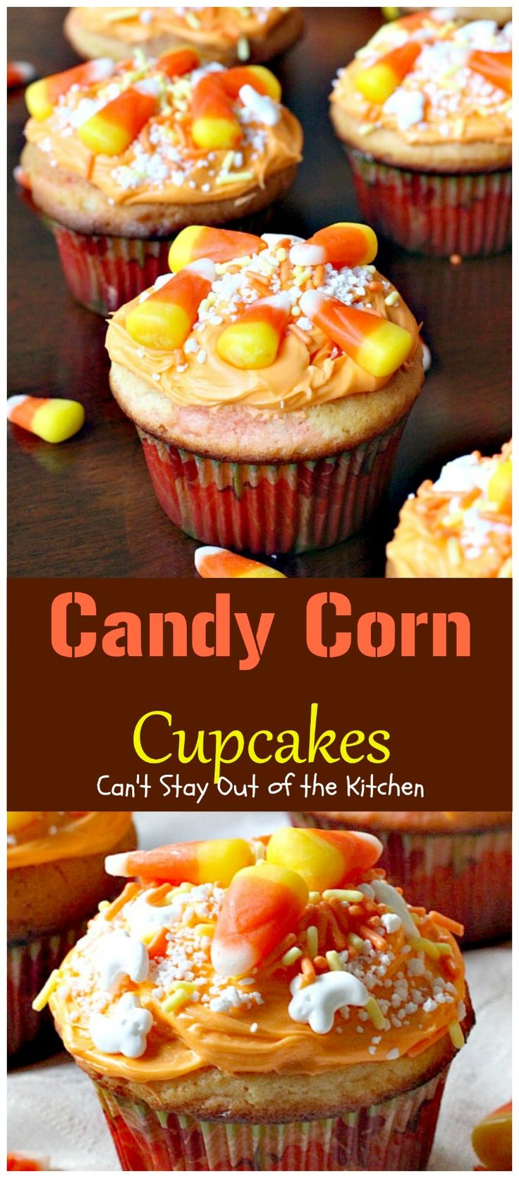 Candy Corn Cupcakes | Can't Stay Out of the Kitchen | these adorable #cupcakes…