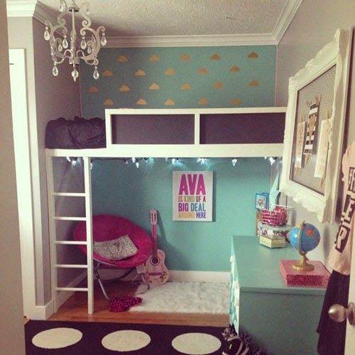 Best 25+ Girl Loft Beds Ideas Only On Pinterest