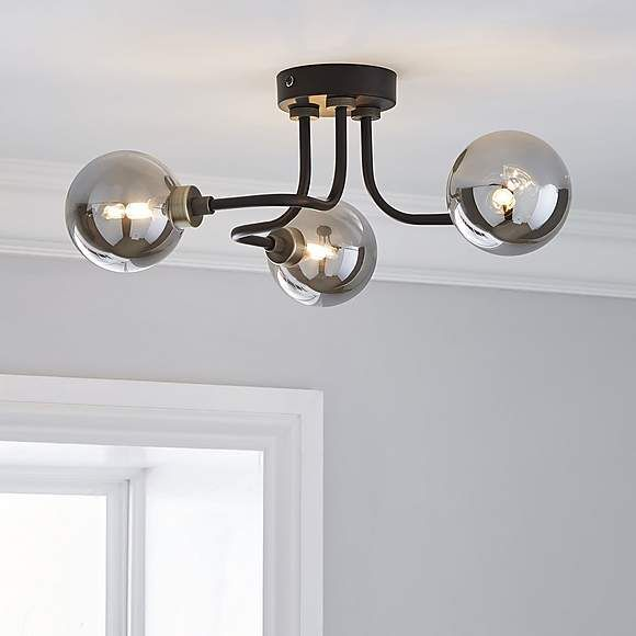 Tanner Black 3 Light Ceiling Ing