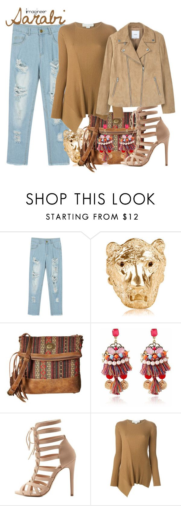 """Sarabi (The Lion King)"" by claucrasoda ❤ liked on Polyvore featuring WithChic, DOMINIQUE LUCAS, American West, Charlotte Russe, STELLA McCARTNEY, MANGO and cosmiscjewelry"