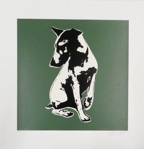 His Master is Voiceless green Serigrafía 74x72 cm Autor: Blek Le Rat 3 Punts Galeria #arte #artecontemporaneo #art #contemporaryart