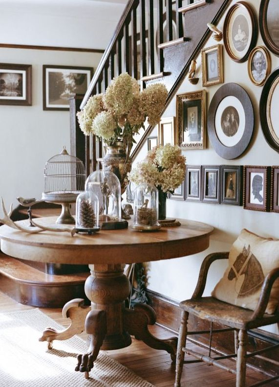 Farmhouse Entryway Love The Round Table Should I Get