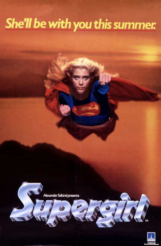 "Rotten Tomatoes With with Critic Score-7% and User-26%. Actress/songwriter-singer as SuperGirl/Kara in  ""Supergirl"" 1984 Movie Poster #2"