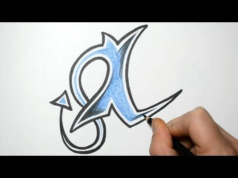 How to Draw Letters in Graffiti Writing - I - YouTube