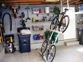Unique Garage Bike Storage with Anti-mainstream Styles - http://www.ruchidesigns.com/unique-garage-bike-storage-with-anti-mainstream-styles/