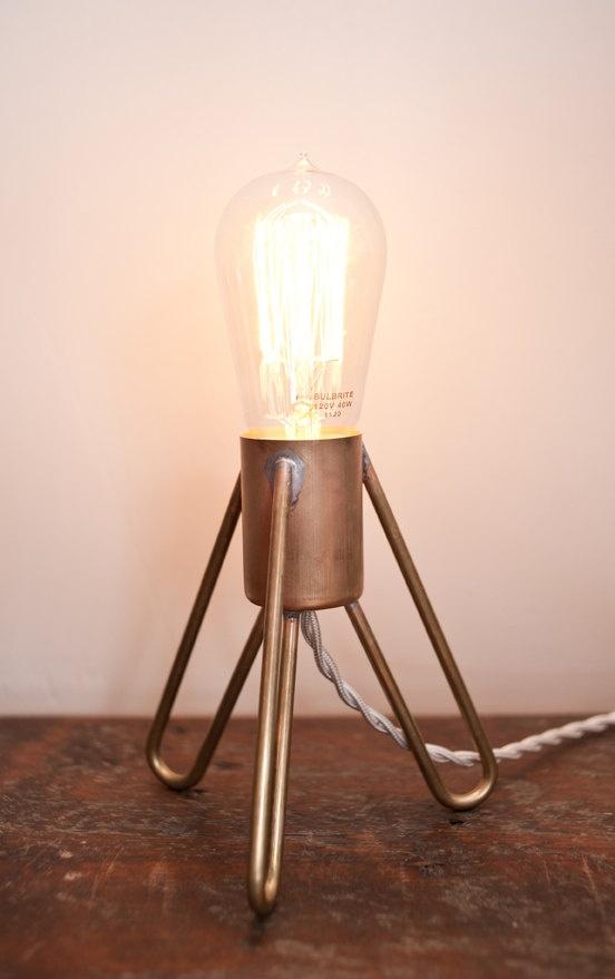 Retronaut - Rocket Lamp with Edison Bulb ($135)