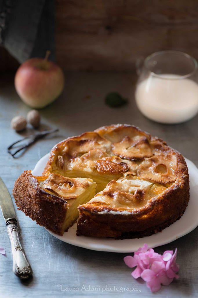 torta di mela alla vaniglia