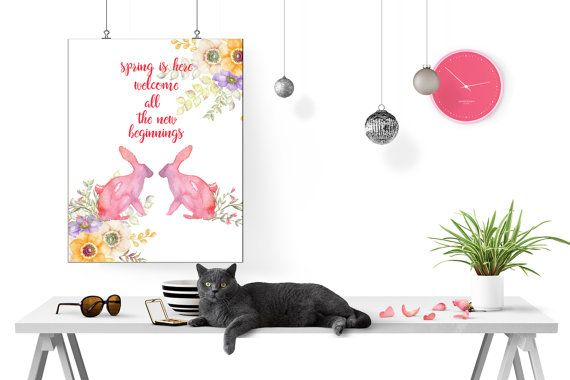 Spring Is Here Welcome All The New Beginnings by LeelaPrintableArt