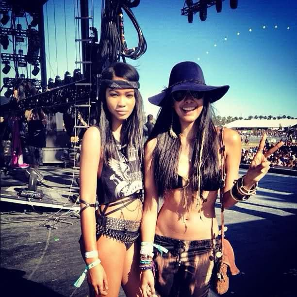 Chanel Iman at Cochella in the Elbowed! from Bliss Lau's Facebook.