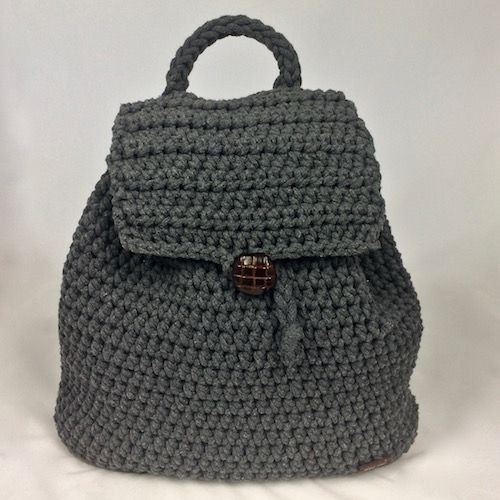backpack - handmade, cotton - https://momonomo.com/produkt/grafitowy-plecak/