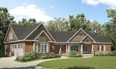 Angled Craftsman House Plan with Room to Grow - 36063DK | Craftsman, Northwest, 1st Floor Master Suite, Bonus Room, Butler Walk-in Pantry, CAD Available, PDF, Corner Lot | Architectural Designs