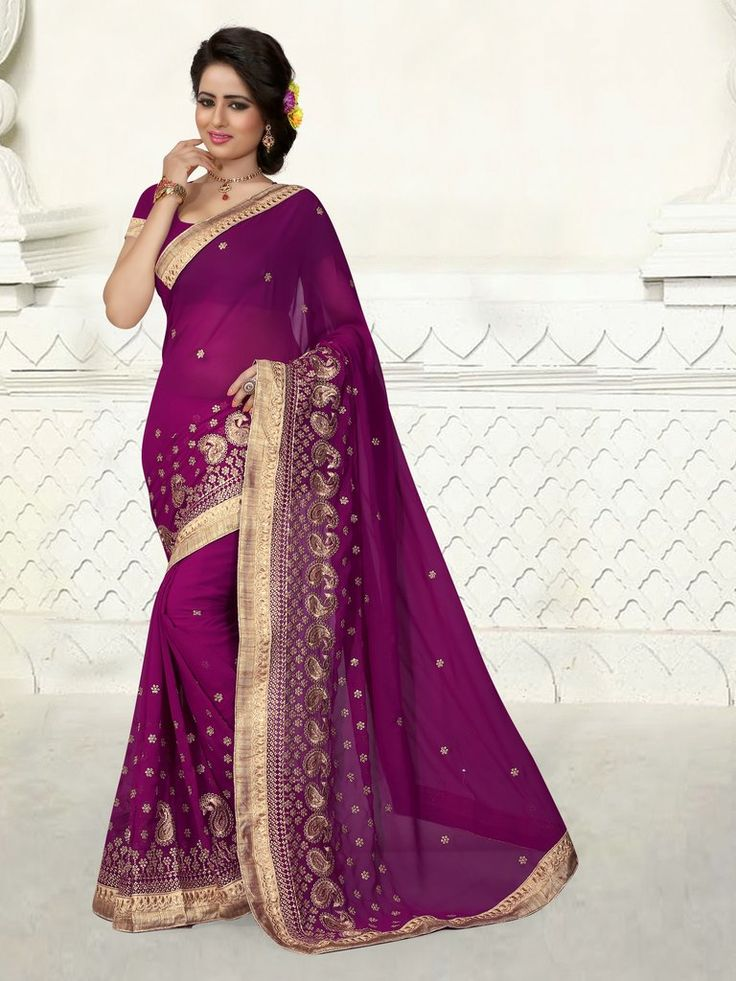 Mejores 122 imágenes de Designer Sarees en Pinterest   Saris de ...