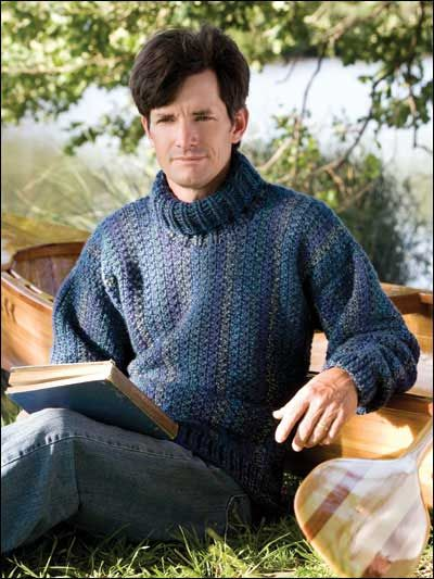 WAITING TO POST - Crochet - Men's Turtleneck - Size S-2X - Medium Worsted Weight [4] Yarn