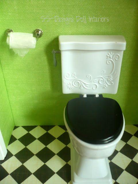 Inside The Barbie Craft Room: Barbie Craft Project: Toilet Paper Holder and Towel Holder