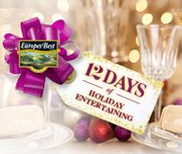 I entered the 12 Days of Holiday Entertaining Contest from Europe's Best! Discover tasty recipes to help simplify your holiday entertaining and enter every day from December 1st to the 12th for your chance to win daily prizes and one fabulous Grand Prize!