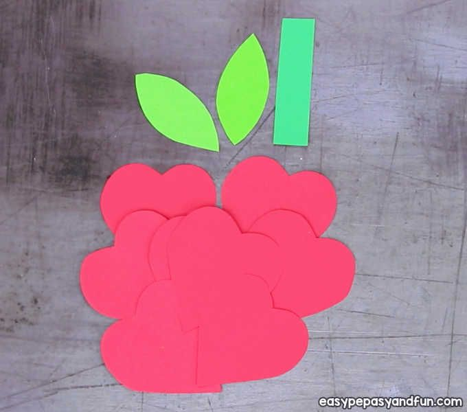 3d Heart Flower Card With Flower Template Valentines And Mother S Day Craft Idea Flower Cards Flower Template Mothers Day Crafts