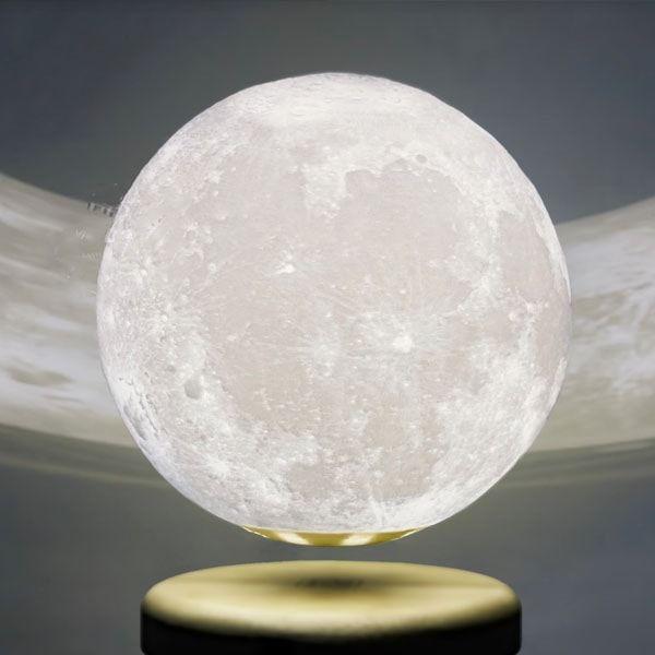 Leviluna   Levitating Moon Lamp in 2020   Moon light lamp, Bedside lighting, Apollo box