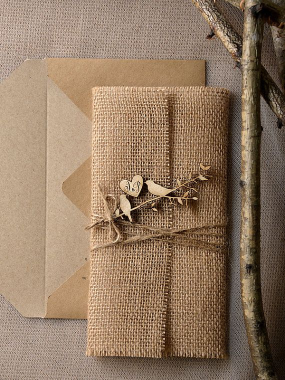 rustic wedding invitations invitation suite laser cut wood invitation recycling eco invitation birds in love invitation