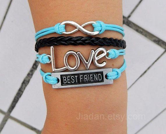 Best friend bracelet  ancient silver infinite hope love  by Jiadan, $9.99