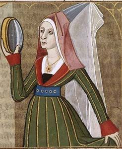 Many examples of the Burgundian gown