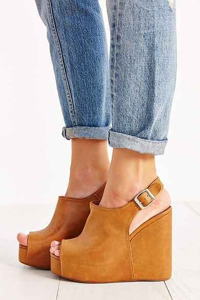 Jeffrey Campbell Snuck Peep-Toe Platform Boot - Urban Outfitters