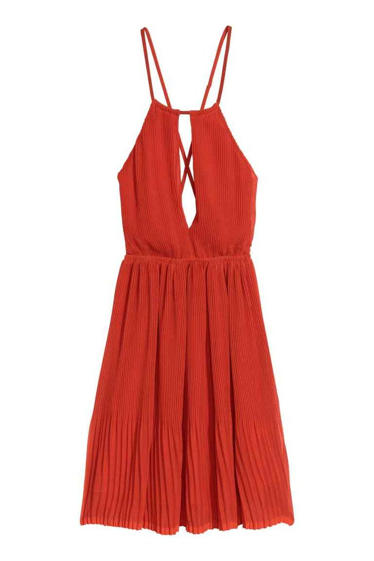 Pleated halterneck dress | H&M