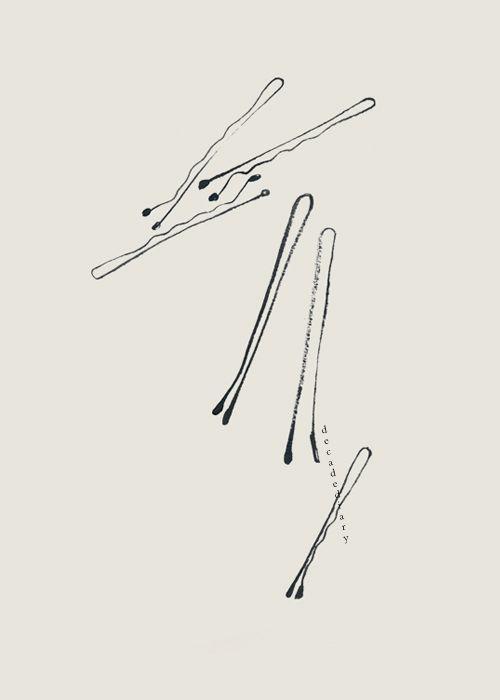bobby pins illustration