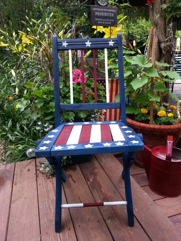 Patriotic painted chair Red White Blue 30 best Painted furniture images on Pinterest   Painted furniture  . Red White And Blue Painted Furniture. Home Design Ideas