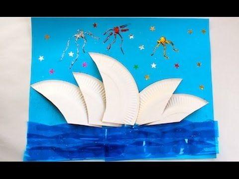 Sydney Opera House collage craft - Kidspot