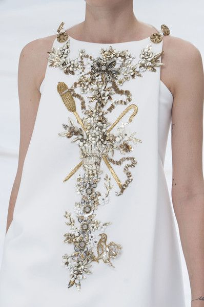 Oh what beautiful beading. Learn how to embroider beads like this from experts who work for Chanel, Louis Vuitton and more at https://www.mastered.com/course-listings/3: