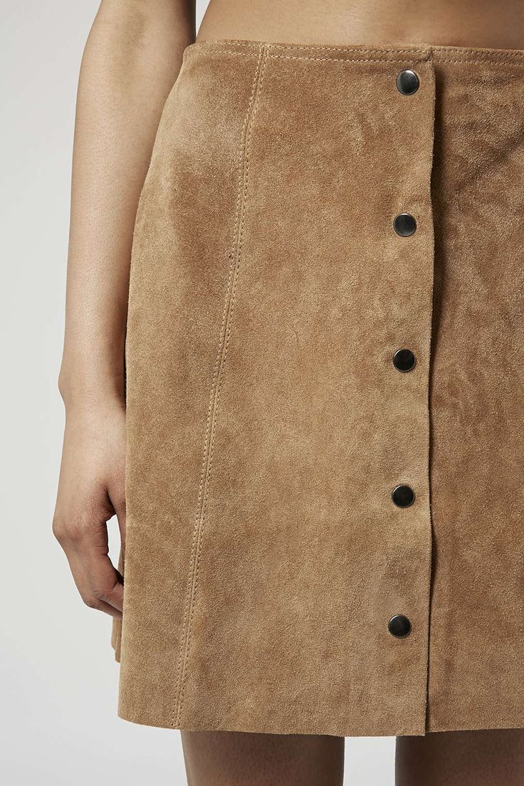 Photo 5 of TALL Suede Button Through A-Line Skirt