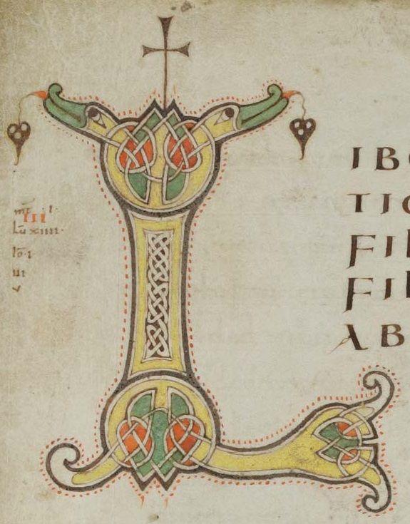 Porrentruy, Bibliothèque cantonale jurassienne, Ms. 34: Liber Evangeliorum et Capitulare · 2e tiers du IXe siècle Langue:Latin      (http://www.e-codices.unifr.ch/fr/list/one/bcj/0034)
