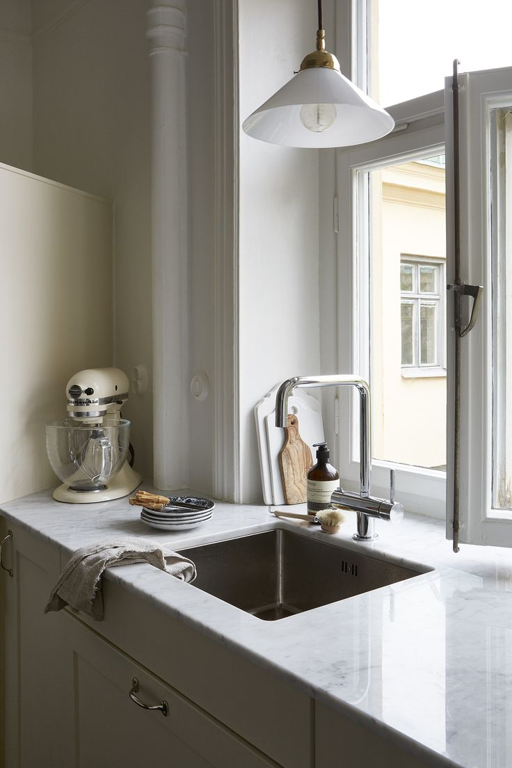 Interior design kitchen marble carrera Upplandsgatan 25 B, 4 tr | Fantastic Frank