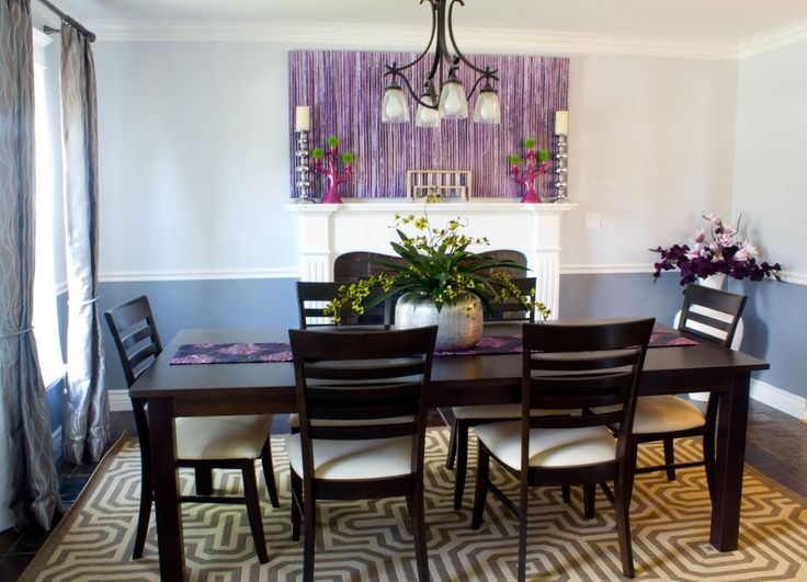 purple dining room ideas