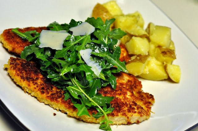 Panko-Crusted Turkey Cutlets with Arugula and Parmesan | Taste As You ...