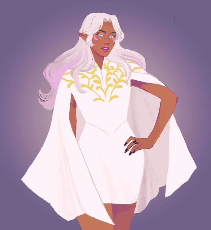 Princess Allura in her new beautiful dress from Voltron Legendary Defender